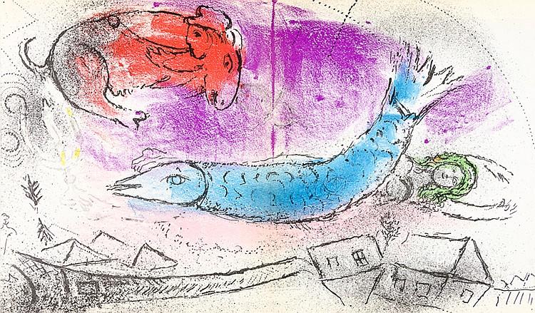 Chagall, Marc - - Lassaigne, Jacques. Chagall. Mit 14 (von 15, inklusive Um