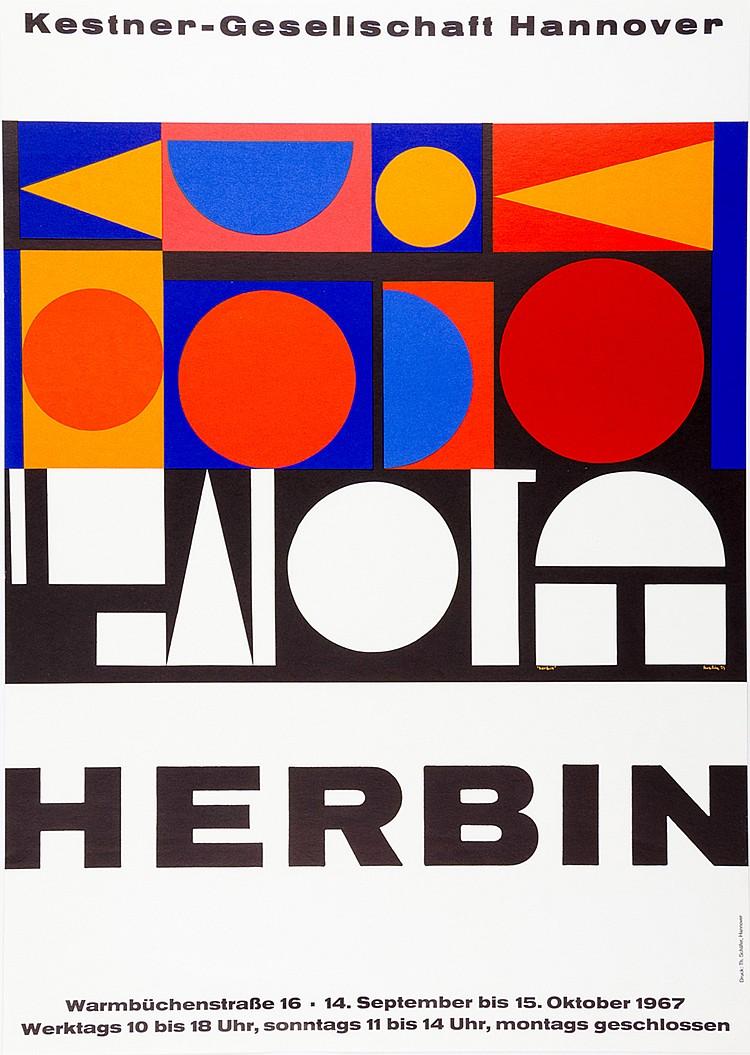 Plakate - - Sammlung von 36 farbigen Plakaten zu Ausstellungen der Kestner-
