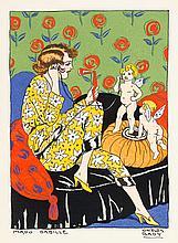 Art-Deco - - Bady, Carlos. La journée de Mado. Mit 4 pochoir-kolorierten Ta
