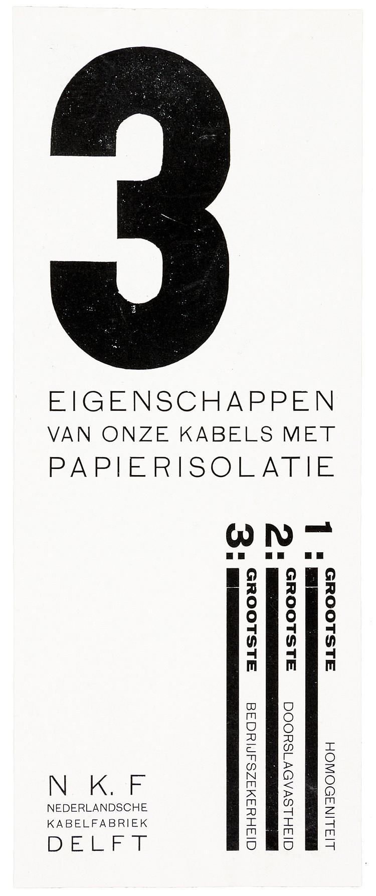 Typographie - - Zwart, Piet. 3 eigenschappen van onze kabels met papierisol