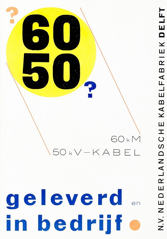 Typographie - - Zwart, Piet. Geleverd in bedrijf. Mehrfarbiges Werbeblatt f