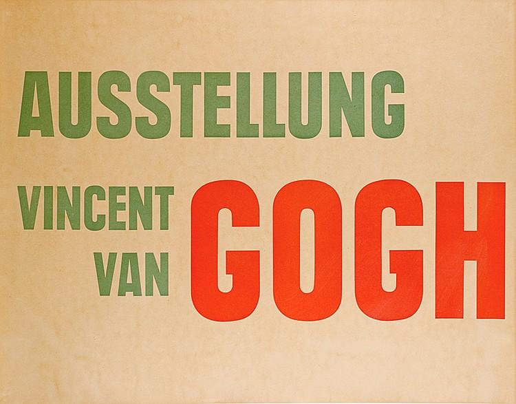 Plakate - - Tschichold, Jan. Ausstellung Vincent van Gogh. Unbekannte Gemäl
