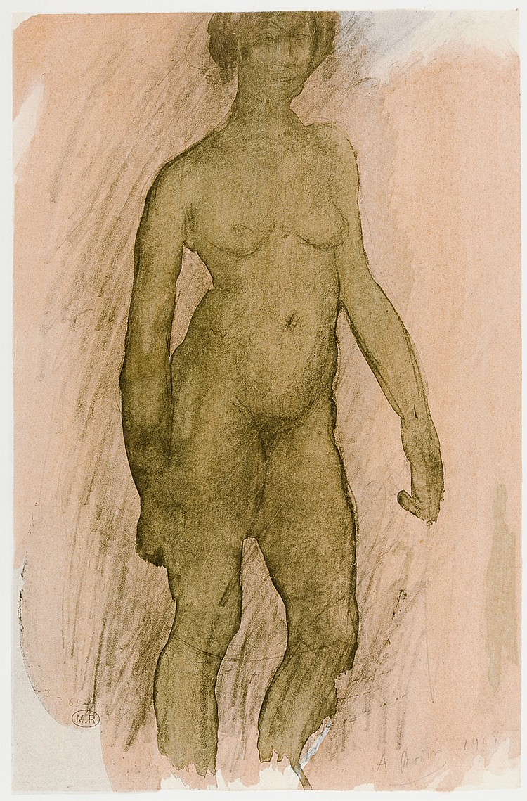 Rodin, Auguste - - Aubert, Marcel. Douze aquarelles inédites de Rodin prése