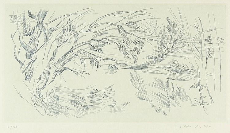 Rohse, Otto. Flusslandschaften. Radierungen von Otto Rohse. Nr. 1. Die Saal