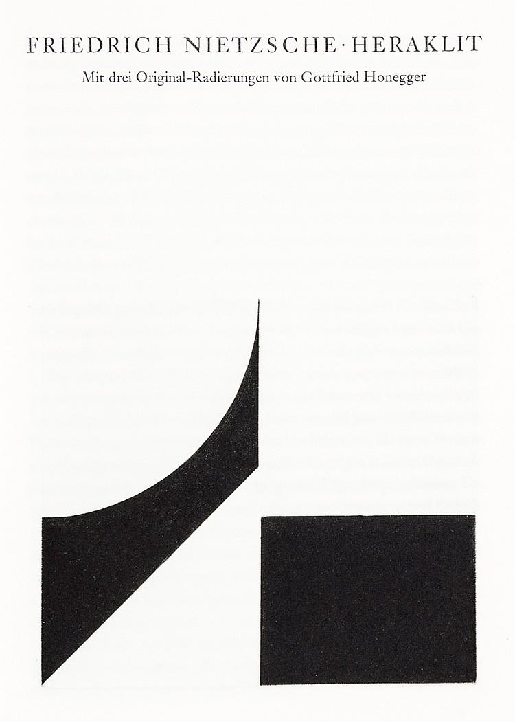 Edition Tiessen - - Nietzsche, Friedrich. Heraklit. Mit 3 (inklusive Umschl