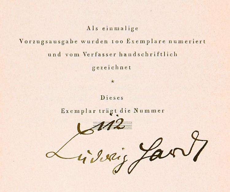 Hardt, Ludwig. Vortragsbuch. Die Hauptstücke aus seinen Programmen nebst Da