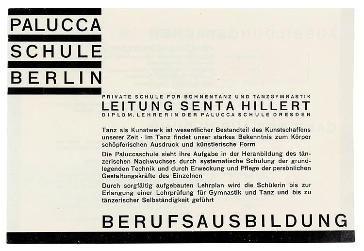 Bauhaus - - Palucca Schule Berlin. Private Schule für Bühnentanz und Tanzgy