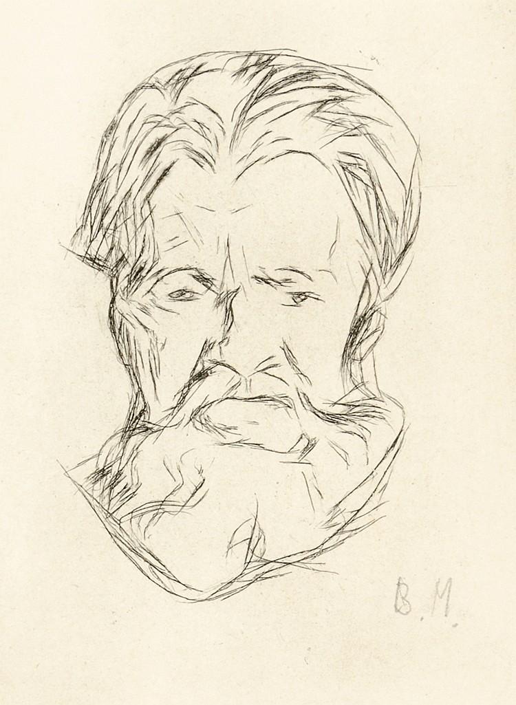 Munch, Edvard - - Glaser, Curt. Edvard Munch. Mit 1 Original-Radierung und