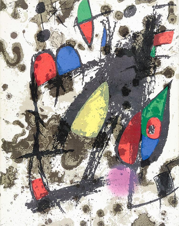 Miro, Joan - - Leiris, Michel. Joan Miro. Lithographe. Bände 1-2 (von 6). M