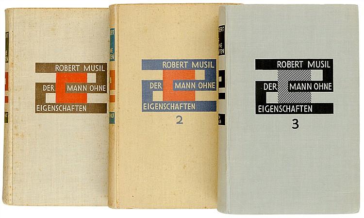 Musil, Robert. Der Mann ohne Eigenschaften. Roman. 3 Bände. Mit 3 Tafeln (i