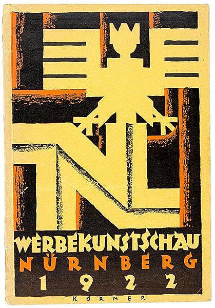 Werbung - - Werbekunstschau Nürnberg 1922. Veranstaltet von der Genossensch