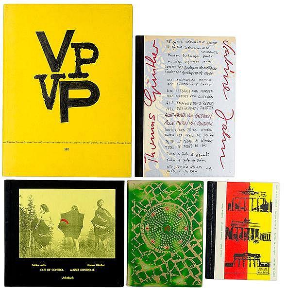 Günther, Thomas. Sammlung von 5 Künstlerbüchern. Mit zahlreichen Graphiken.
