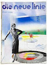 Bauhaus - - die neue linie. Sammlung von 15 Heften der Jahre 1931-1942. Mit