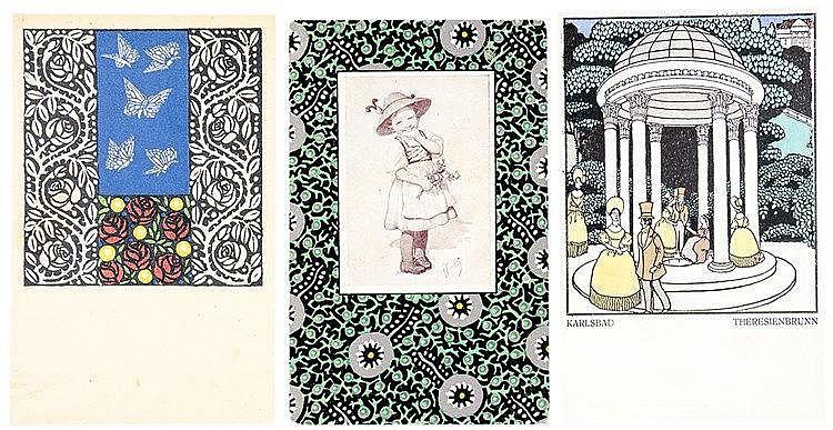 Wiener Werkstätte - - Sammlung von vier Objekten zu den Werkstätten. Unters