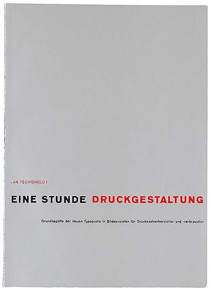 Typographie - - Tschichold, Jan. Eine Stunde Druckgestaltung. Grundbegriffe