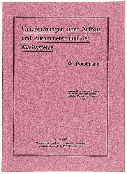 Typographie - - Porstmann, Walter. Untersuchungen über Aufbau und Zusammens
