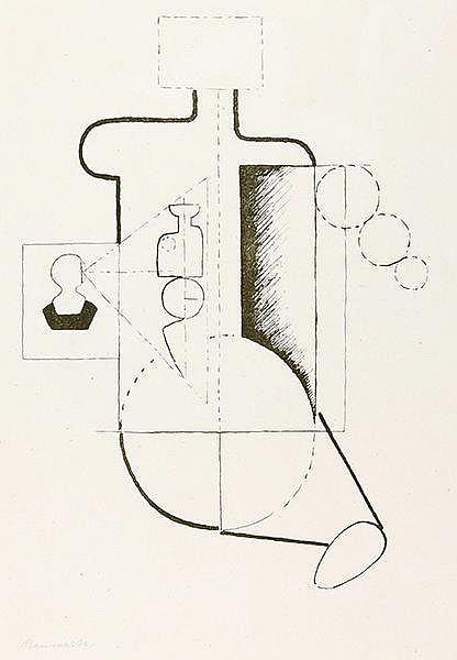 Baumeister, Willi. Visieren (Sitzende Figur). Lithographie auf dünnem chamo