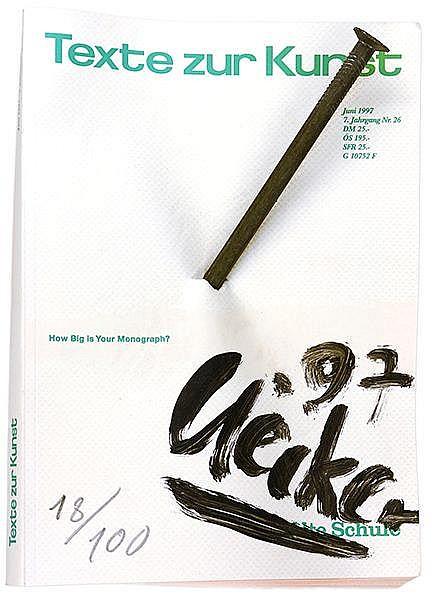 Uecker, Günther. Texte zur Kunst. Multiple. Heft