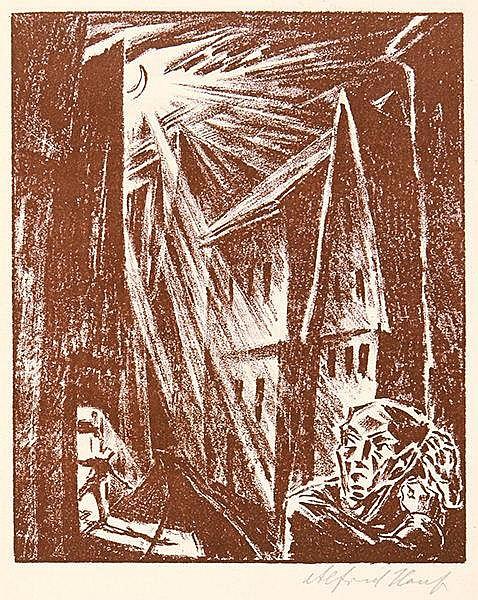 Expressionismus - - Bähr, Walter. Sonette von seitwärts. Von Walter Bähr fü