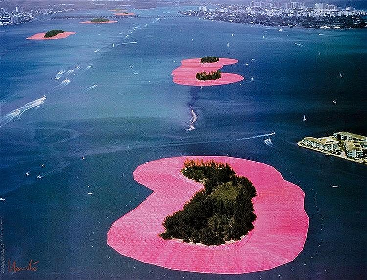 Christo. Surrounded Islands, Biscayne Bay, Greater Miami, Florida, 1980-83.