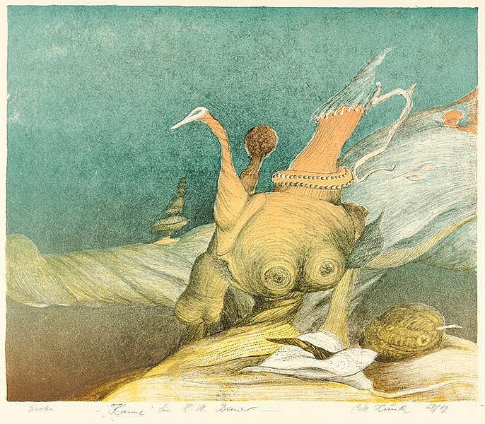 Kunde, Wolfgang. Sammlung von 2 Aquarellen (auf 1 Blatt), 2 Aquatinta-Radie