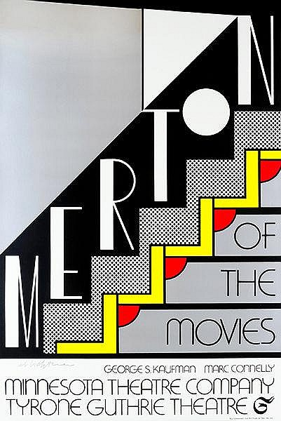 Lichtenstein, Roy. Merton of The Movies. Farbserigraphie auf leichtem Karto