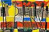 Drewes, Werner. Sunset-Chicago. Orange-Variante. Farbholzschnitt auf dünnem, Werner Drewes, €400