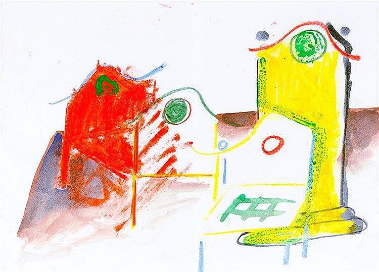 Lüpertz, Markus. Gedichte 1961-1983 Auswahl. Mit 1 Original-Zeichnung (Bunt