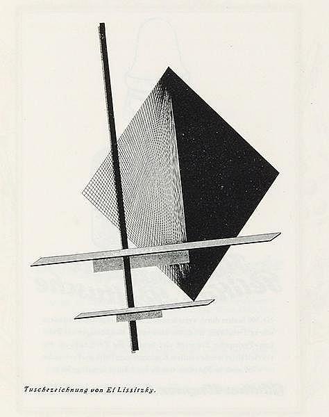 Lissitzky, El - - Wiertz, Jupp. Pelikan. Günther Wagner, Hannover u. Wien.