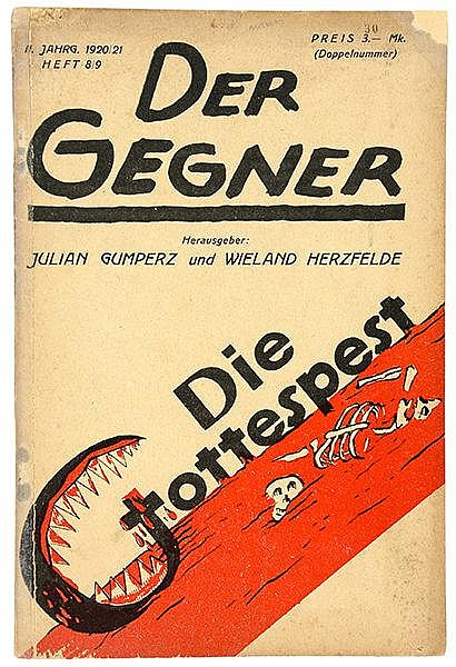 Malik-Verlag - - Der Gegner. Jg. 2 (1920/21), Heft 8/9 (Doppelnummer). Hg.