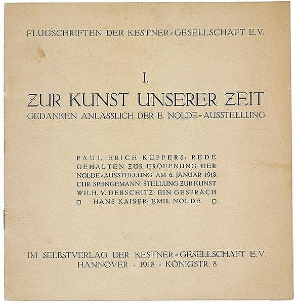 Küppers, Paul Erich. Zur Kunst unserer Zeit. Gedanken anlässlich der Emil N