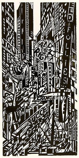 Expressionismus - - Thalmann, Max. Vom Rhythmus der neuen Welt. Amerika im