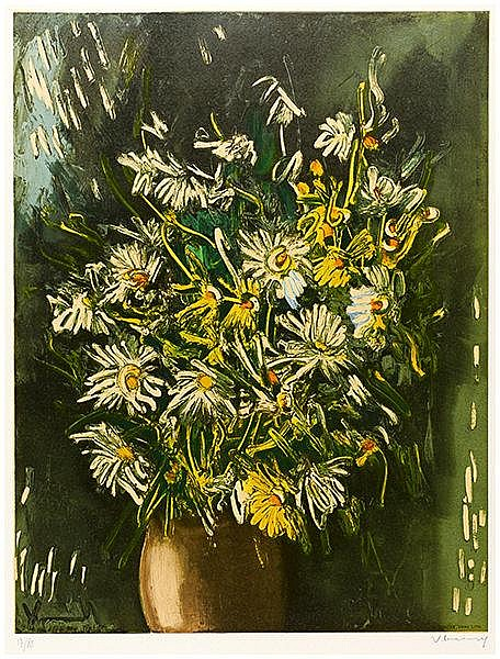 Vlaminck, Maurice de. Ohne Titel (Bouquet). Farblithographie auf Velin. Rec