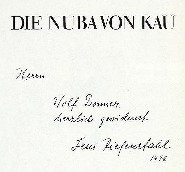Photobücher - - Riefenstahl, Leni. Die Nuba. Menschen wie von einem anderen