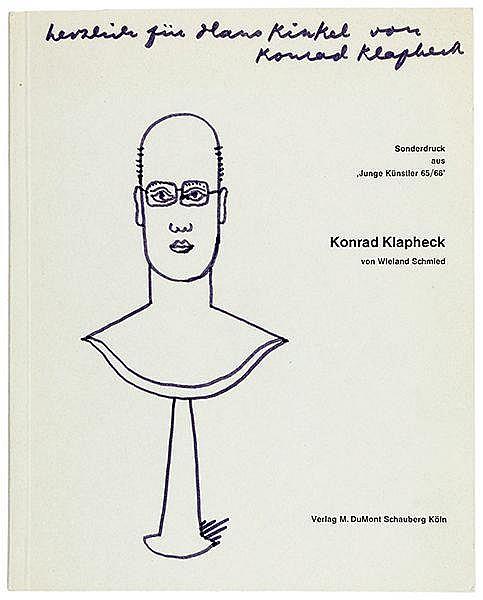 Klapheck, Konrad. Sammlung von 4 Katalogen, jeweils mit eigenhändiger Widmu