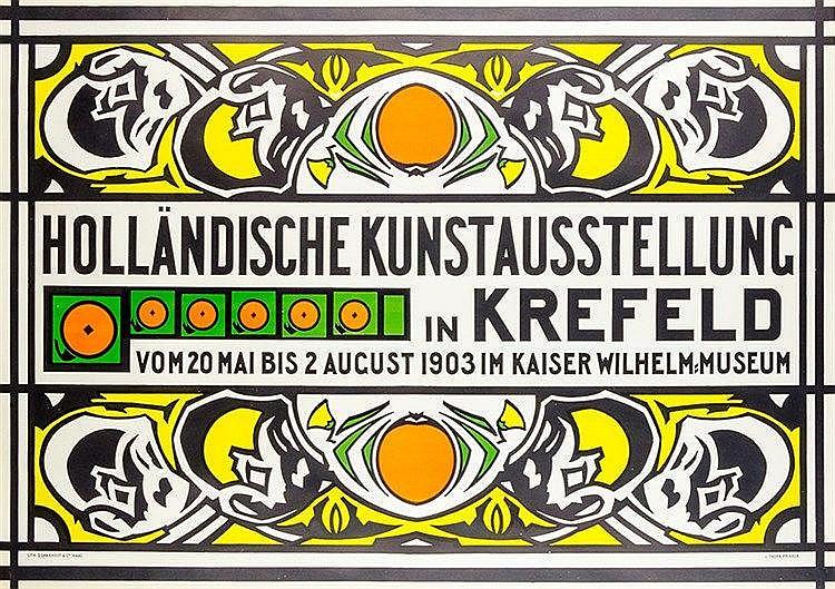 Plakate - - Thorn-Prikker, Jan. Holländische Kunstausstellung in Krefeld (.