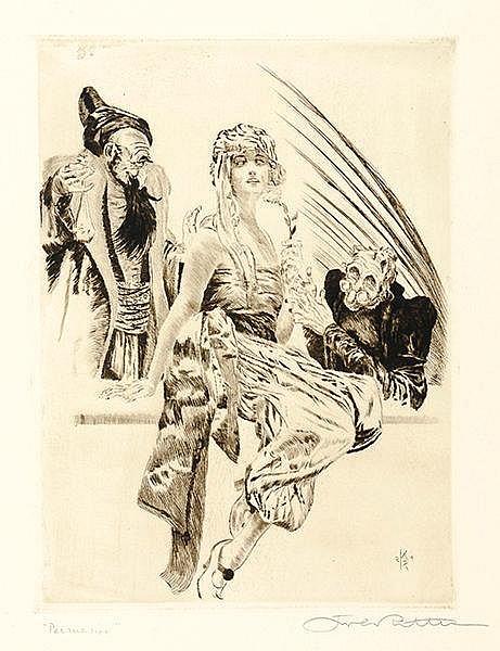 Ritter, Karl. Sammlung von 5 signierten Radierungen. 1921 Plattengrößen von