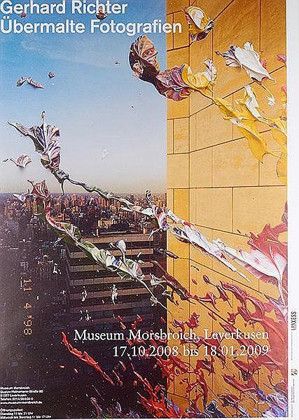 Richter, Gerhard. Übermalte Fotografien. Farboffsetplakat für die Ausstellu