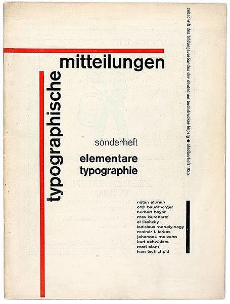Typographie - - Tschichold, Jan. elementare typographie. Sonderheft Typogra