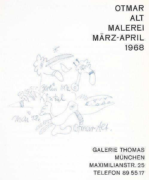 Alt, Otmar. Sammlung von 4 Werken, davon 3 mit eigenhändiger Widmung für Ha