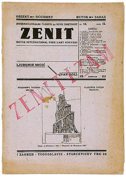 DADA - - Zenit. Internacionalni Casopis za novu umetnost. Revue Internation