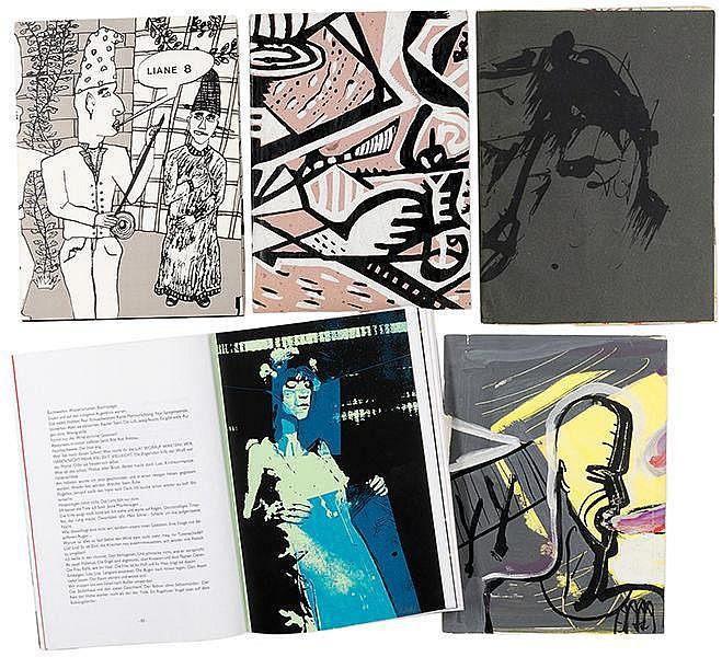 DDR-Künstlerbücher - - Sammlung von 9 Künstlerzeitschriften aus der DDR bzw