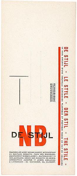 De Stijl - - Doesburg, Theo van. De Stijl. Maandblad voor nieuwe kunst (...