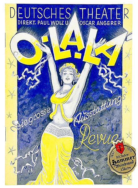 Theater - - Sammlung von ca. 100 Programmen für Variete, Kabarett, Sport, K