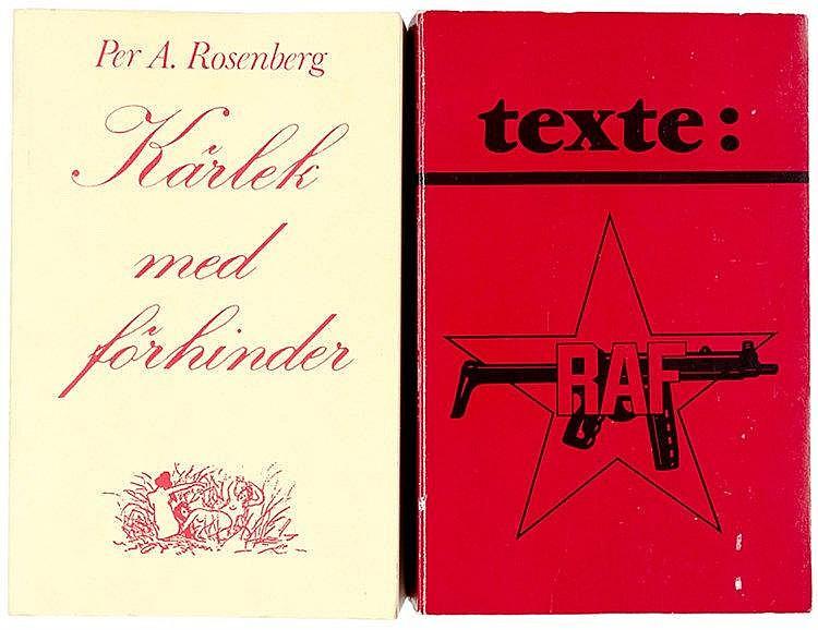 Tarnschriften - - texte: der RAF. Mit 8 Seiten Porträts in Schwarzweiß-Phot