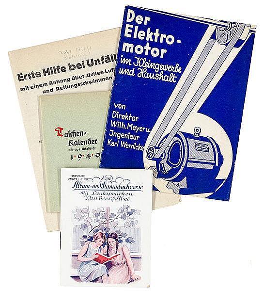Tarnschriften - - Sammlung von 4 Tarnschriften. Ca. 1935-1940. Unterschiedl