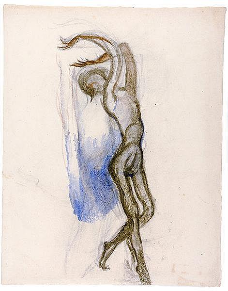 Tanz - - Sammlung von 14 Original-Zeichnungen mit Tanzstudien. 20. Jahrhund