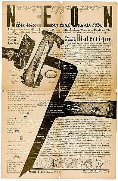 Surrealismus - - NEON. N'être rien, être tout, ouvrir l'être N. Hefte 1-3 u