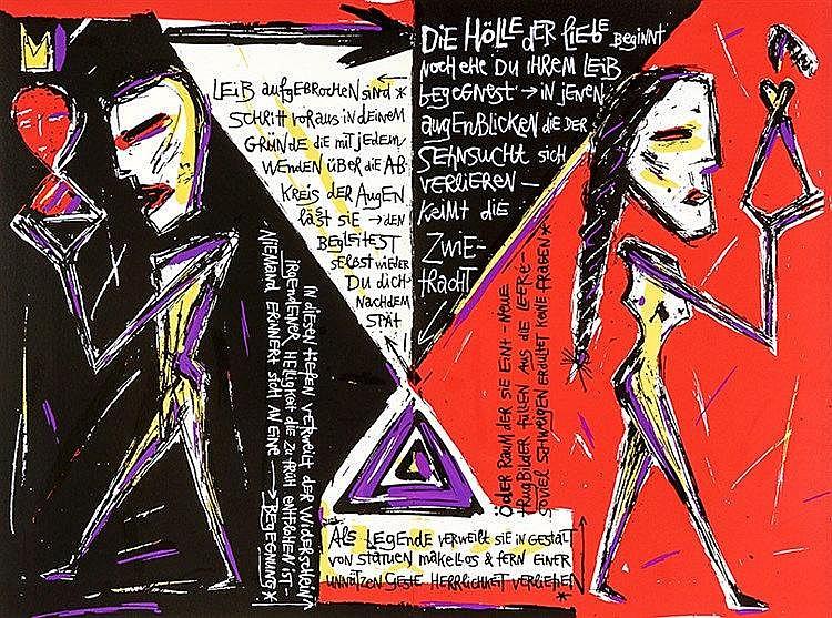 Ellmann, Tobias. Totenwache. Mit 24, meist farbig serigraphierten Seiten mi