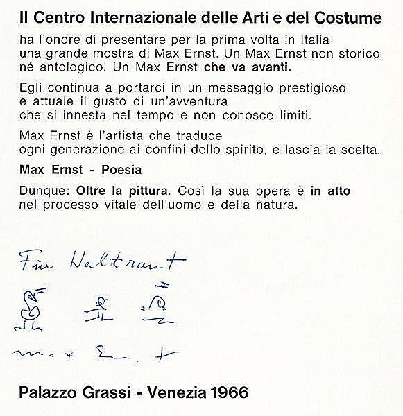 Ernst, Max. Oltre la pittura. Katalog zur Ausstellung im Palazzo Grassi, Ve